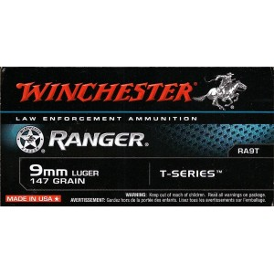 Winchester Ranger 9mm Luger 147 grain T-seies 100 ...