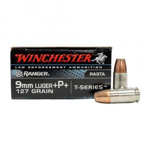 Winchester Ranger 9mm luger +P+ 127 grain t-series...