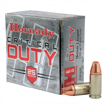 Hornady Critical Duty 25 Rounds 9mm luger 135gr Fl...
