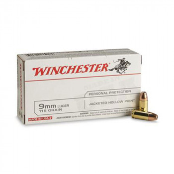 Winchester 9mm Luger 115 Grain Jacketed Hollow Poi...