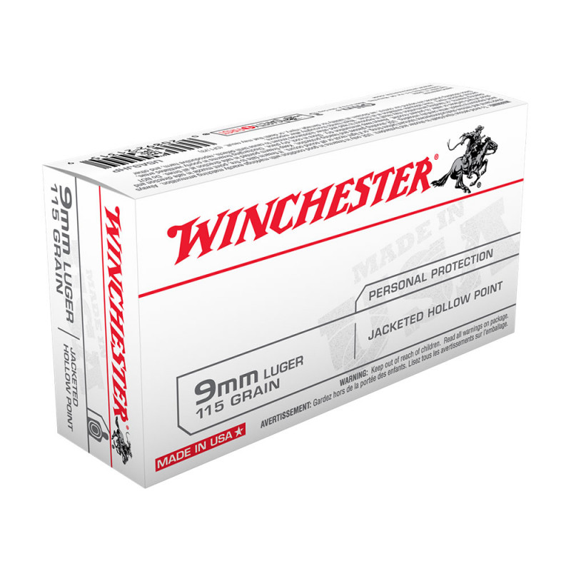 Winchester 9mm Luger 115 Grain Jacketed Hollow Point 5
